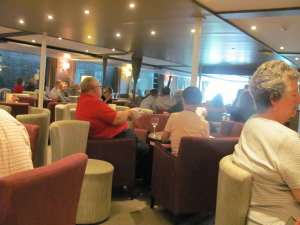 The ship's lounge