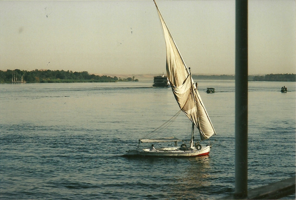 7. A felucca (traditional Egyptian sailboat) on the Nile