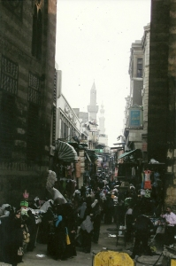 The non-tourist side of the Khan El-Khalili Souq