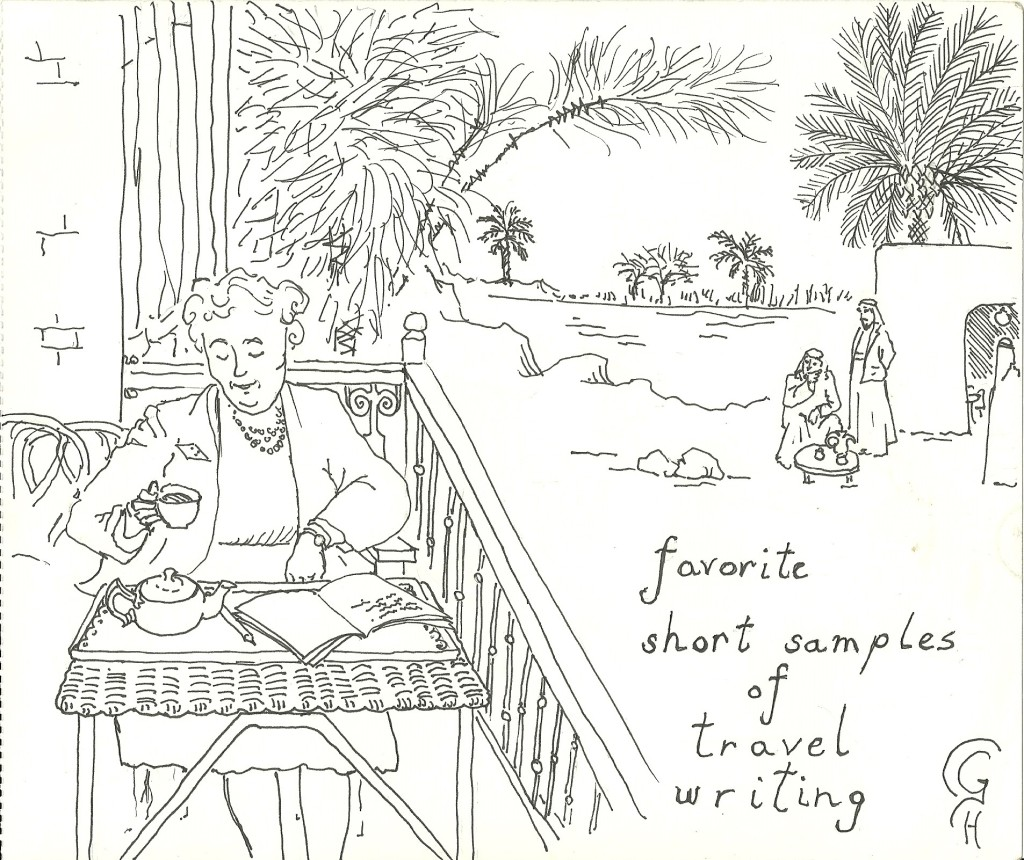 Agatha Christie writing, over looking the River Tigris