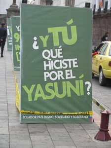 "Government poster: ""And you, what have you done for the Yasuní"""