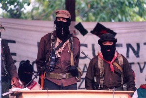Subcommandante Marcos during the Zapatista rebellion in Chiapas