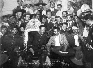 Pancho Villa in the presidential chair