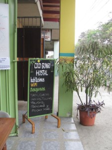 Entrance to the Hostal CocaBongo